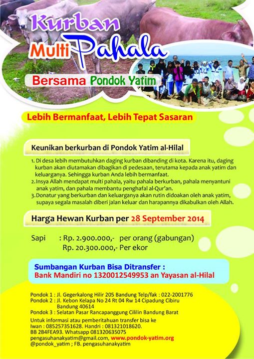 Harga Hewan Qurban 2015 Termurah  Aqiqah Alhilal, Jasa Aqiqah Bandung