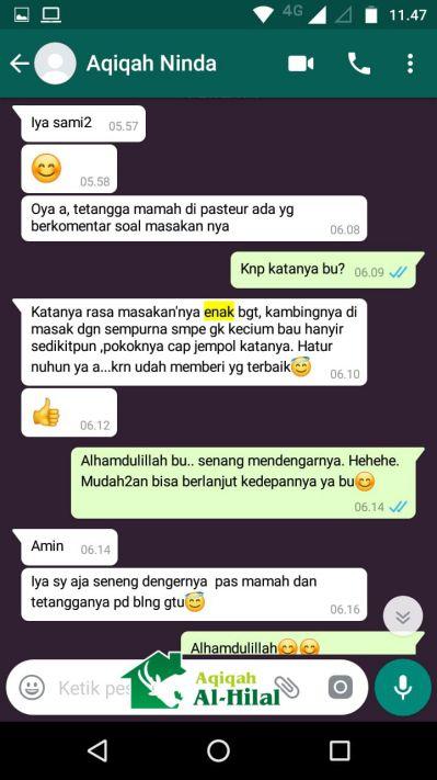 Aqiqah Bandung Terbaik & Berkualitas, Enak dan Bersertifikat MUI 6